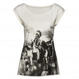 biały t-shirt New Yorker z nadrukiem - z letniej kolekcji 2012