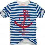 biały t-shirt Pull and Bear w paski - wiosna-lato 2011