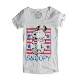 biały t-shirt Pull and Bear z nadrukiem - z kolekcji wiosna-lato 2011