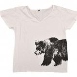 biały t-shirt Reporter w zwierzęce wzory - z letniej kolekcji 2012