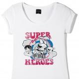 biały t-shirt Reserved z nadrukiem - moda wiosna/lato