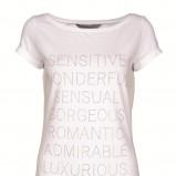 biały t-shirt Top Secret z napisami - jesień 2011