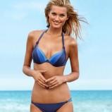 bikini H&M w kolorze niebieskim - stroje kąpielowe 2013