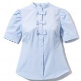 błękitna bluzka Mohito - moda zimowa