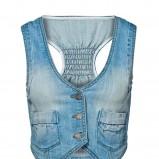 błękitna kamizelka New Yorker dżinsowa - kolekcja wiosenna