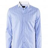 błękitna koszula H&M w paski - wiosna-lato 2012