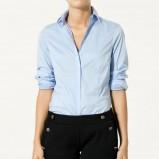 błękitna koszula ZARA - trendy wiosna-lato