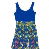 błękitna sukienka Carry we wzorki - wiosna/lato 2012