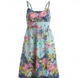 błękitna sukienka Kappahl w kwiaty - lato 2011