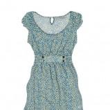 błękitna sukienka Pull and Bear w groszki - wiosenna kolekcja