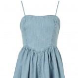 błękitna sukienka Topshop jeansowa - lato 2012