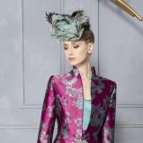 błękitna sukienka wieczorowa Higar w kwiaty - trendy 2012