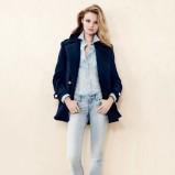 błękitne spodnie H&M - styl na jesień 2013
