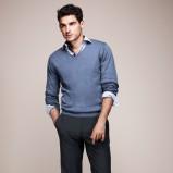 błękitny sweter F&F - moda wiosenna