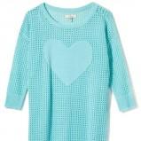 błękitny sweter House z sercem - jesienna kolekcja 2013