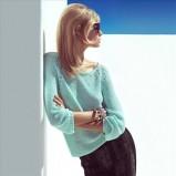 błękitny sweterek H&M - lookbook wiosna 2013