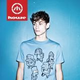 błękitny t-shirt House z nadrukiem - jesień/zima 2011/2012
