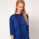 bluzeczka Asos w panterkę w kolorze niebieskim - moda damska