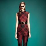 bluzeczka Gucci w kratkę w kolorze bordowym - jesienne trendy 2013