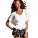 bluzeczka H&M z falbankami w kolorze białym - moda 2013/14