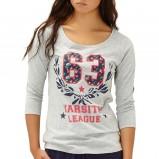 bluzeczka Reserved z nadrukiem w kolorze szarym - jesień 2013