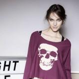 bluzeczka Terranova z nadrukiem w kolorze bordowym - ubrania dla kobiet na zimę 2013