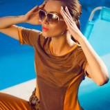 bluzeczka w kolorze brązowym - Paulina Papierska  - kampania marki Chaos
