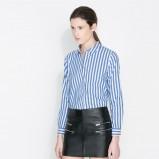 bluzeczka ZARA w paski w kolorze niebieskim - moda 2013/14