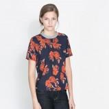 bluzeczka ZARA we wzorki - moda dla kobiet