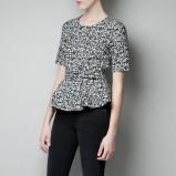 bluzeczka ZARA z falbanką - wiosna 2013
