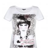 bluzka Top Secret z nadrukiem w kolorze białym