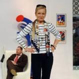 bluzka w pasy - Maria Pakulnis