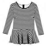 bluzka z baskinką Reserved w paski - wiosna 2013