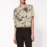 bluzka ZARA z nadrukiem - z kolekcji wiosna-lato 2012