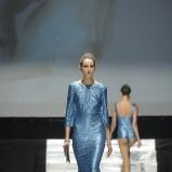 błyszcząca sukienka Plich w kolorze niebieskim - wiosna 2013