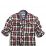 bordowa koszula Kappahl w kratkę - jesień-zima 2010/2011