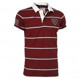 bordowa koszulka Cottonfield w paski polo - trendy na jesień-zimę