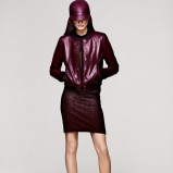 bordowa kurtka H&M - kolekcja zimowa