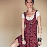 bordowa sukienka Free People maxi - lato 2013