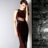 bordowa sukienka Jason Wu z cekinami - jesień 2013
