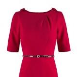 bordowa sukienka Makalu - kolekcja zimowa