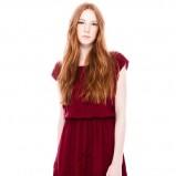 bordowa sukienka Pull and Bear - jesień i zima 2013/14
