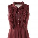 bordowa sukienka s.Oliver - sezon jesienno-zimowy