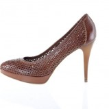 bordowe pantofle Prima Moda - moda 2011
