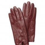 bordowe rękawiczki InWear skórzane - kolekcja jesienna