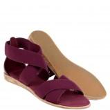bordowe sandały Lacoste - wiosna/lato 2013