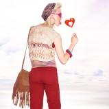 bordowe spodnie Bershka - wiosna/lato 2011
