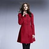 bordowy płaszczyk bonprix - moda na jesień i zimę 2013/14