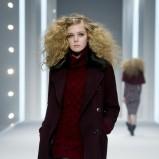 bordowy płaszczyk F&F - kolekcja jesienno-zimowa 2013