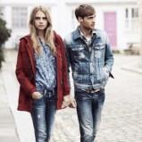 bordowy płaszczyk Pepe Jeans - jesień 2013
